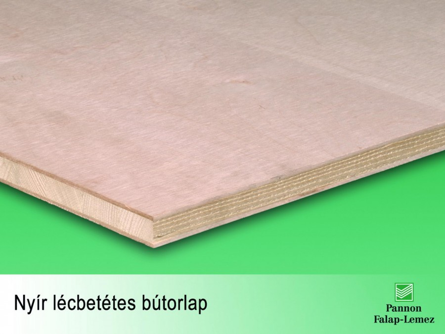 Nyír lécbetétes bútorlap (13 mm)
