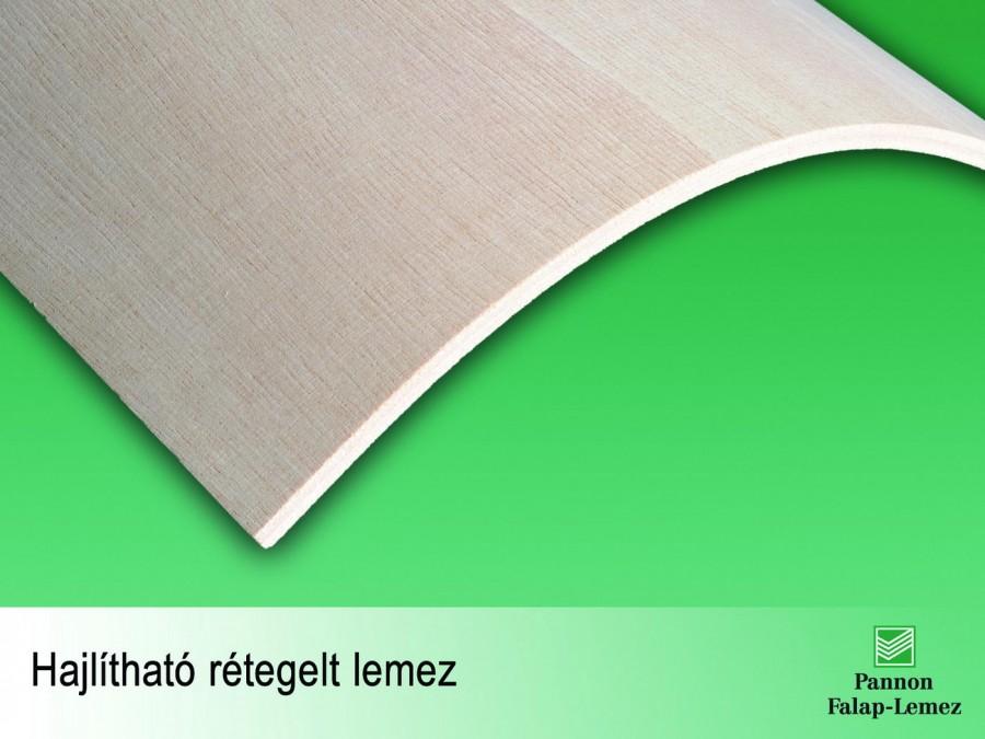 Hajlítható rétegelt lemez (9 mm)