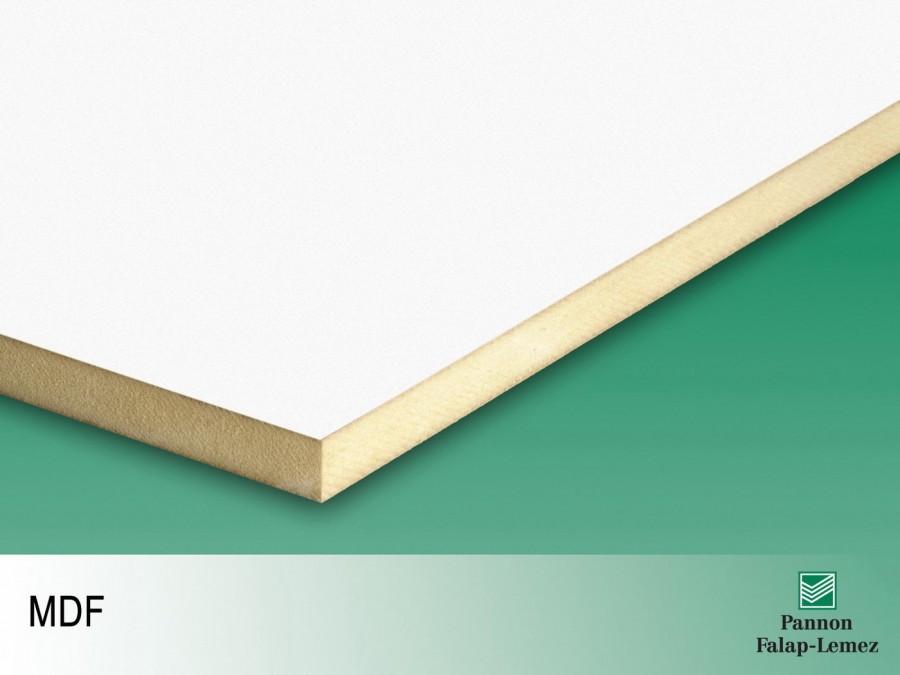 Egy oldalt fehér, laminált MDF lap (18 mm)