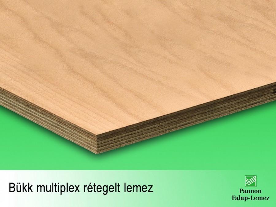 Bükk multiplex rétegelt lemez (18 mm)