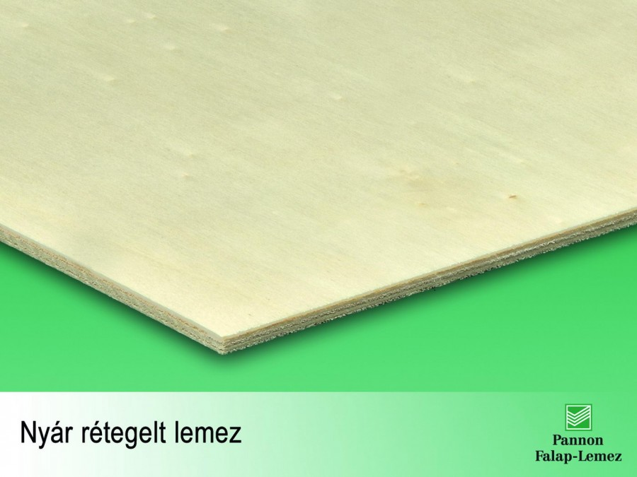 Nyár rétegelt lemez (3-25 mm)