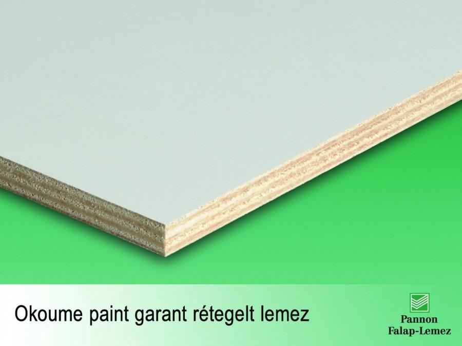 Okoume paint garant rétegelt lemez (12-15 mm)