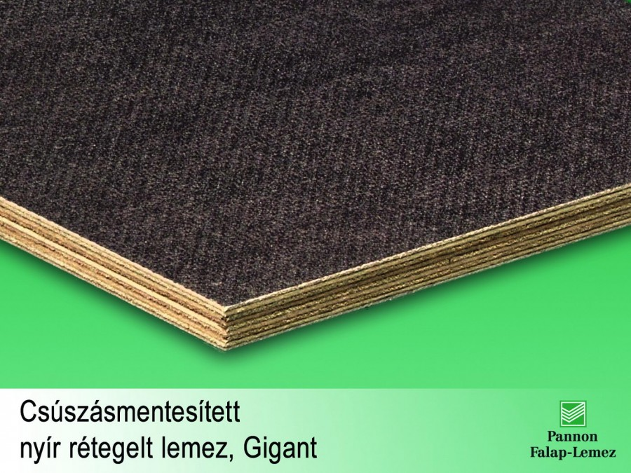 Csúszásmentes nyír rétegelt lemez, gigant (24 mm)